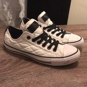 Quilted Leather Converse